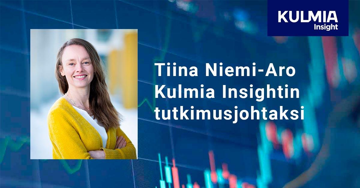 Tiina Niemi-Aro Kulmia Insightin tutkimusjohtaksi